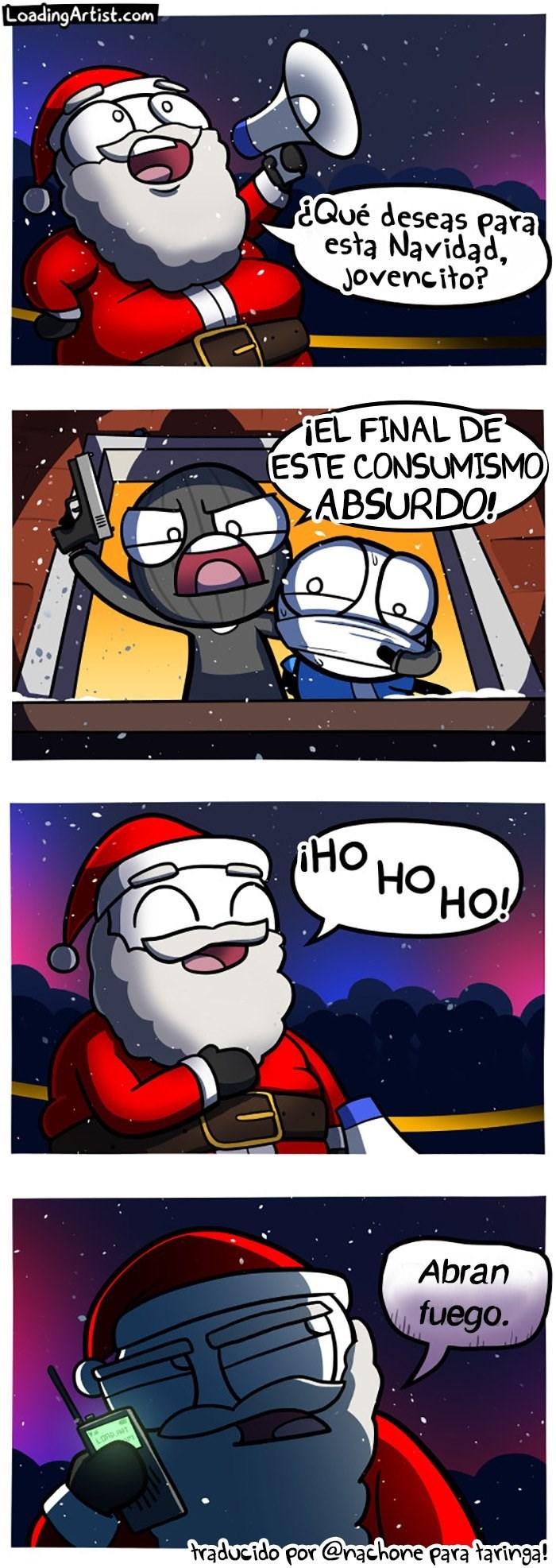 cuando un criminal intenta secuestrar la navidad