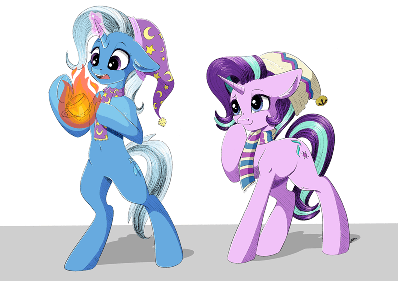 the great and powerful trixie faline art starlight glimmer - 9106236160