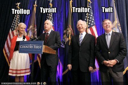 Cindy McCain democrats Joe Lieberman john mccain Republicans - 910638336