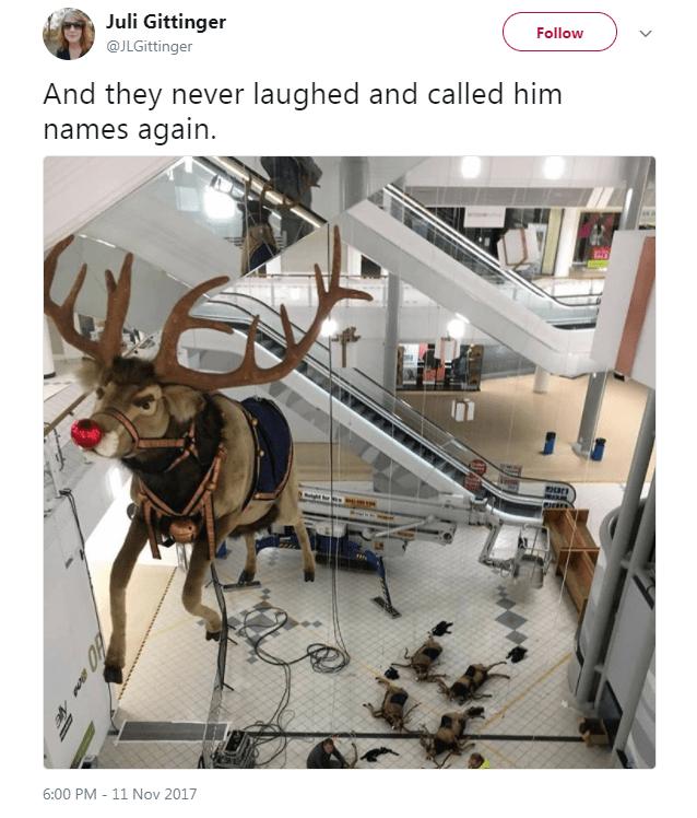 Deer - Juli Gittinger Follow @JLGittinger And they never laughed and called him names again i em 6:00 PM - 11 Nov 2017