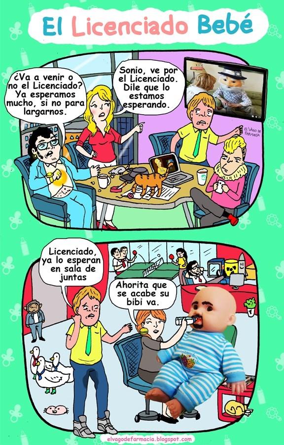 el licenciado bebe vineta de elvagodefarmacia