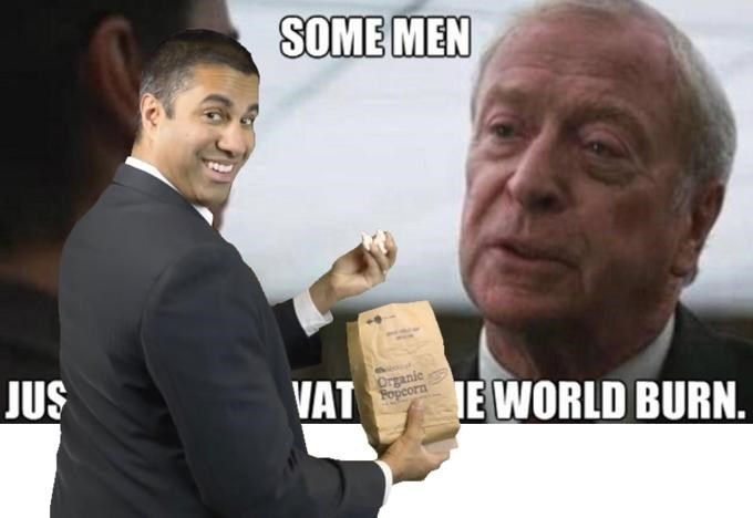Chin - SOME MEN JUS Organic Fopcorn VAT TE WORLD BURN