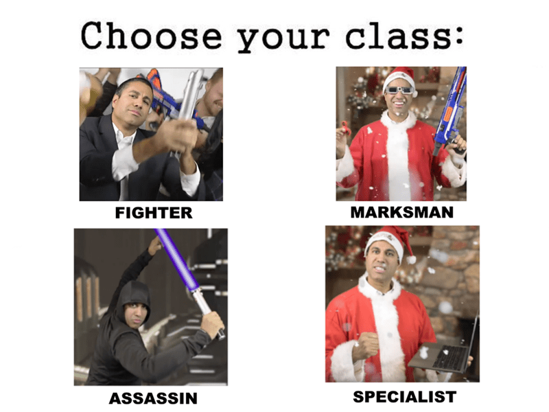 Pope - Choose your class: FIGHTER MARKSMAN SPECIALIST ASSASSIN