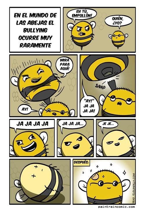 el bullying entre abejas no existe