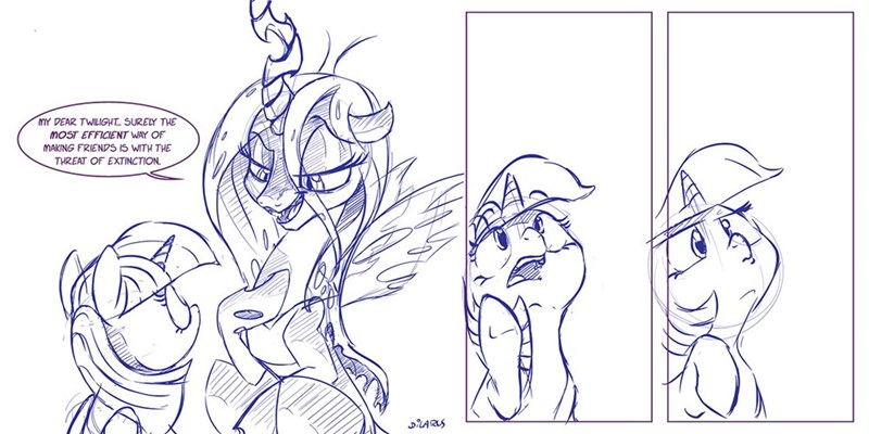 dilarus twilight sparkle meet the pones chrysalis - 9106623232