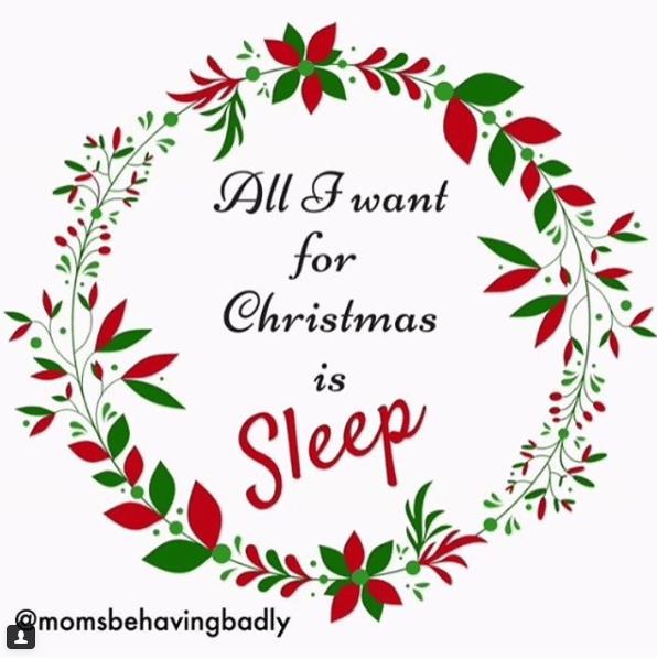 Wreath - All Fwant for Christmas is Sleep momsbeangtadly
