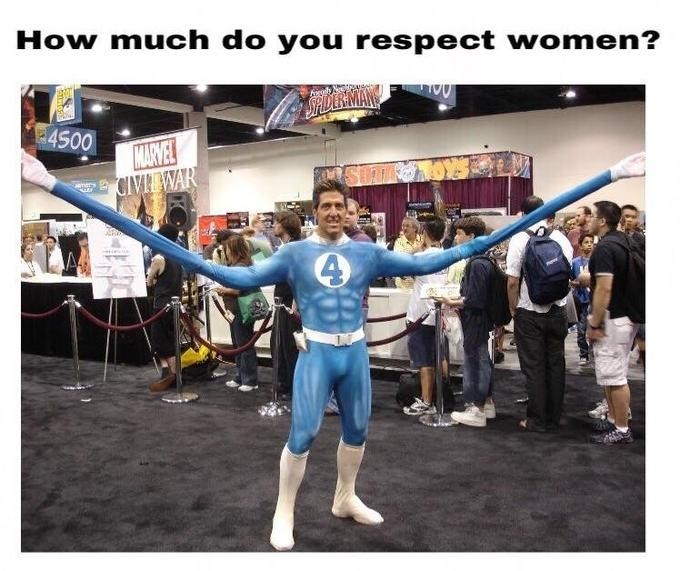 Fictional character - How much do you respect women? SP 4S00 MARVEE CIVIEWAR 4