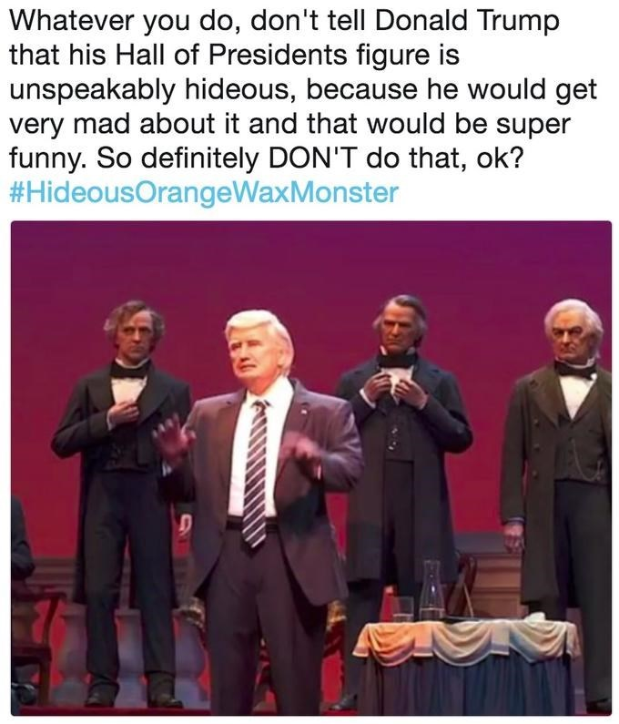 Trump meme about his disney robot being ugly