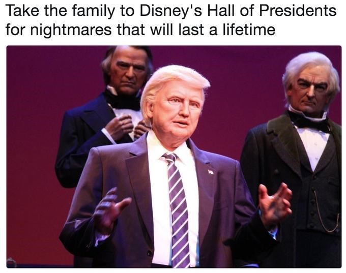 Trump meme about his disney robot giving nightmares