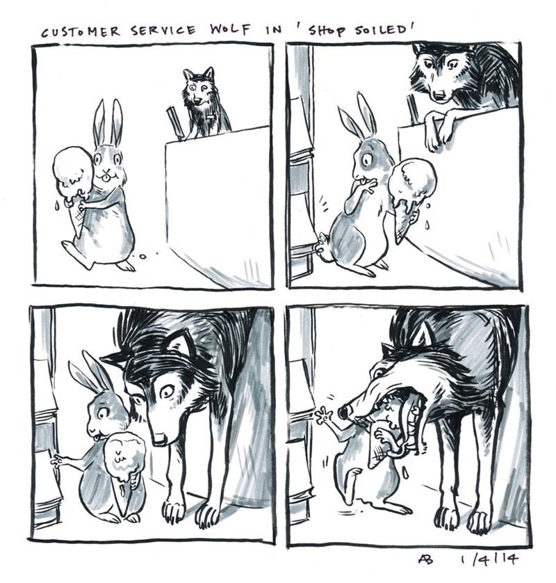 webcomic - Cartoon - CUSTO MER SERVICE WOLF IN /414