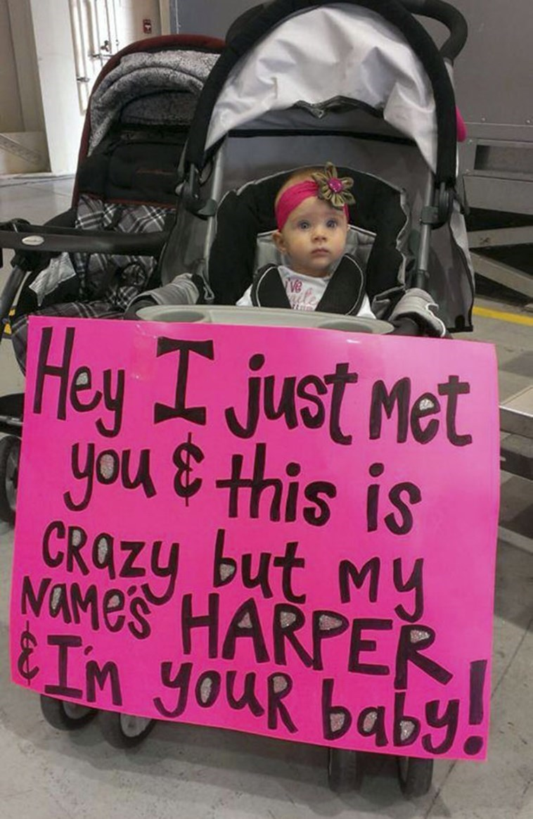 Pink - Hey I just Met you & this is CRAZY but My NOMES HARPER &IM YOUR baby
