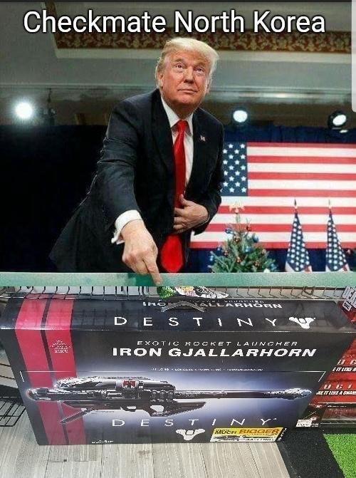 Trump meme about toy rocket launchers