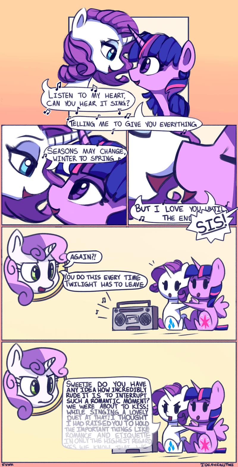 shipping funky i draw raritwi Sweetie Belle twilight sparkle rarity comic - 9107793664