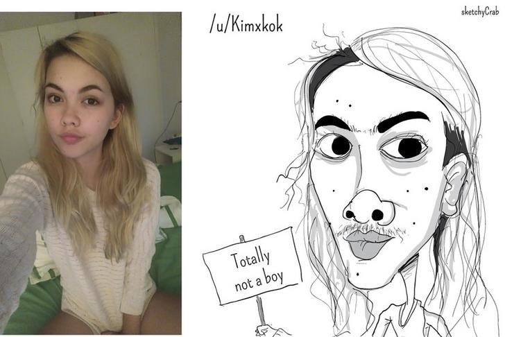 Face - /u/Kimxkok sketchyCrab Totally a boy not