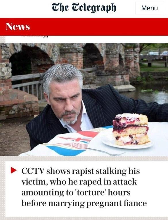 picture of man eyeing a desert above headline describing a rapist stalking his victim