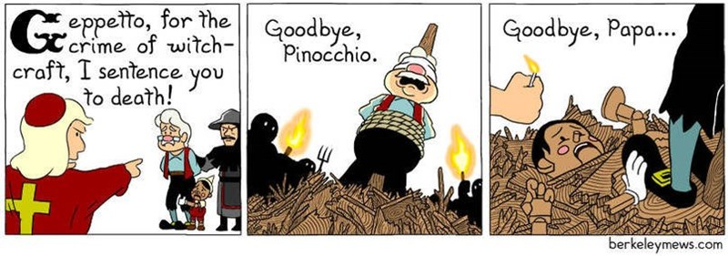 Cartoon - eppetto, for the crime of witch- oodbye, craft, I sentence to death! Goodbye, Papa... Pinocchio you berkeleymews.com