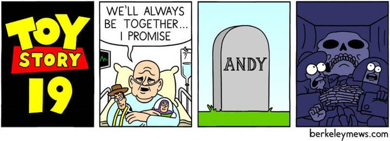 Cartoon - WE'LL ALWAYS BE TOGETHER.. I PROMISE STORY ANDY 19 berkeleymews.com