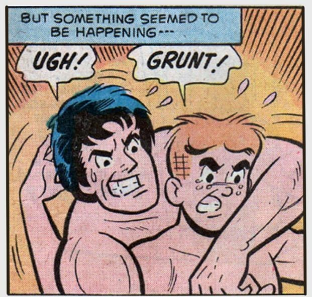 Comics - BUT SOMETHING SEEMED TO BE HAPPENING UGH! GRUNT!