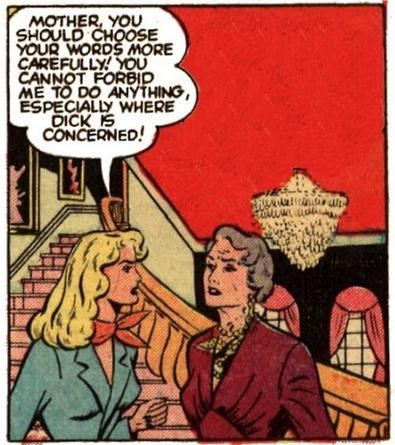 Cartoon - MOTHER, YOU SHOULD CHOOSE YOUR WORDS MORE CAREFULLY! YOU CANNOT FORBID ME TO DO ANYTHING, ESPECIALLY WHERE DICK IS CONCERNED!