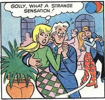 Cartoon - GOLLY, WHAT A STRANGE SENSATION boo 90