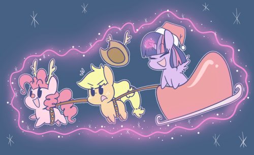 fun picture of ponies typhwosion christmas applejack hearths-warming-eve twilight sparkle pinkie pie - 9108477440