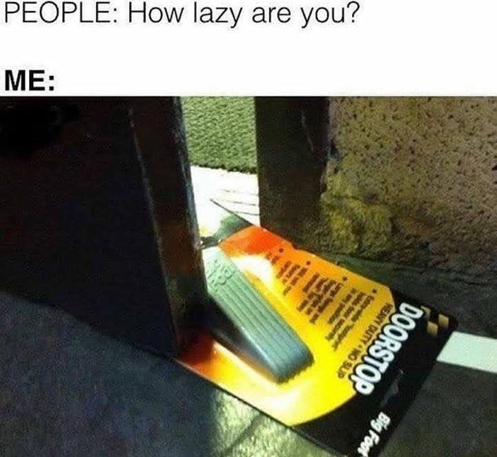 Funny meme about laziness.