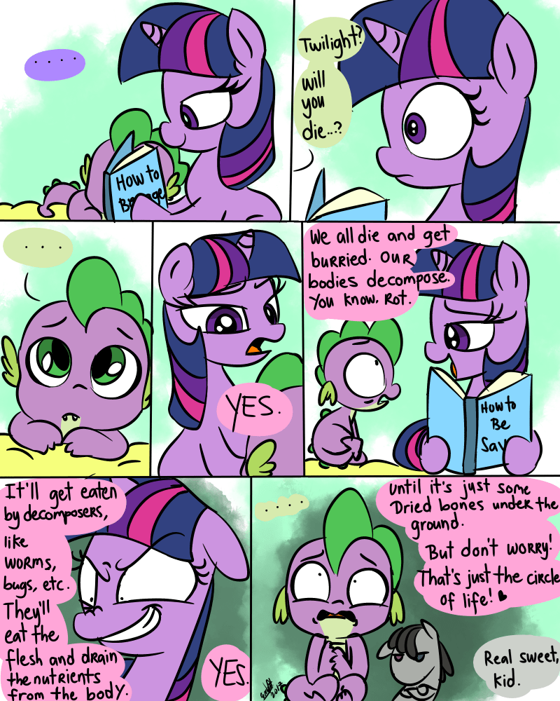 spike emositecc twilight sparkle smarty pants comic - 9108859392