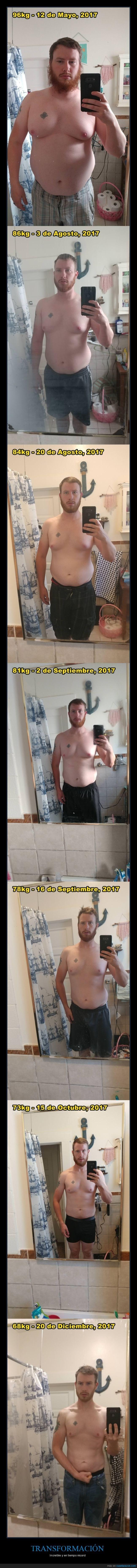 fotos de un chico que pierde peso en tiempo record