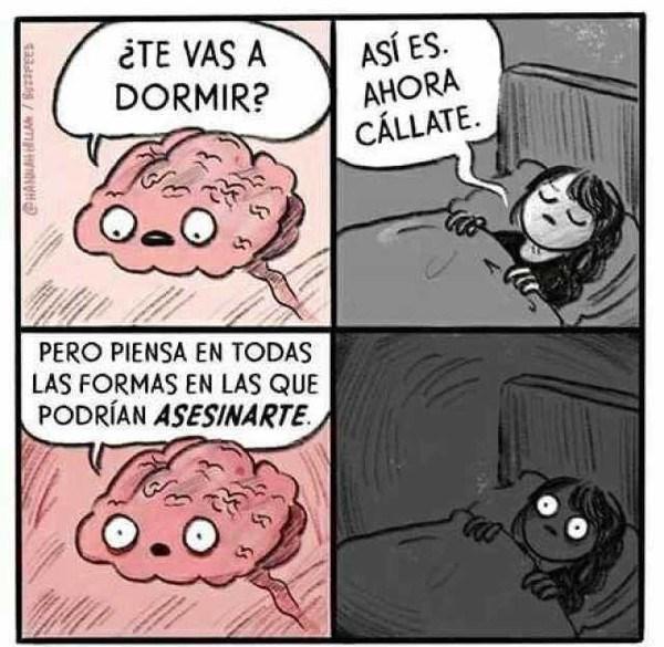 el cerebro te trollea cuando vas a dormir