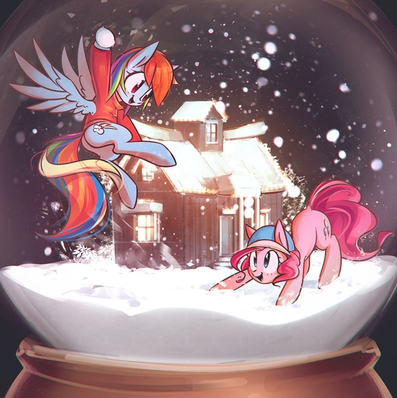 pinkie pie mirroredsea rainbow dash - 9109207040