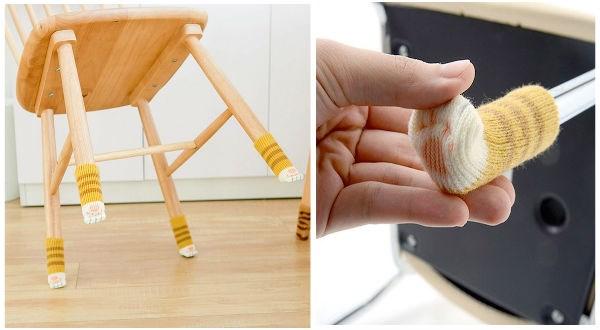 cat paw socks, chair with cat paw socks