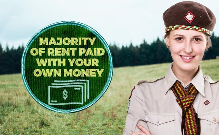 Cap - MAJORITY OF RENT PAID WITH YOUR OWN MONEY $