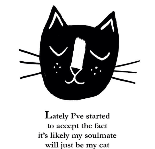 Head - Lately I've started to accept the fact it's likely my soulmate will just be my cat
