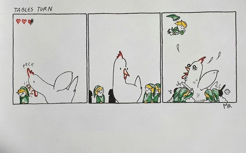 Cartoon - TABLES TURN PECK MR