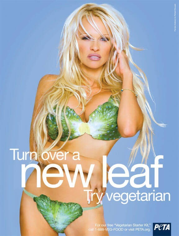 "Clothing - Turn over a new leaf Try vegetarian For our free ""Vegetarian Starter Kit,"" call 1-888-VEG-FOOD or visit PETA.org A"