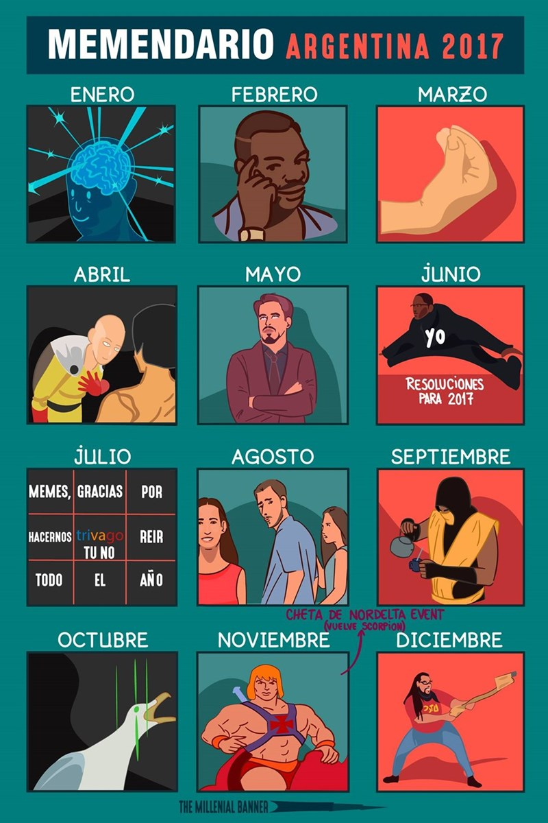 memedario argentina 2017 de TheMillennialBanner