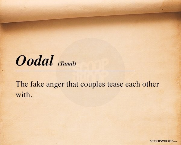Text - Oodal (Tamil) The fake anger that couples tease each other with SCOOPWHOOPco