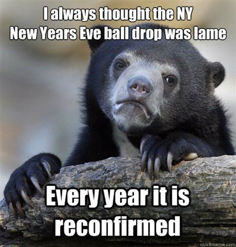 Terrestrial animal - lalways thought the NY New Years Eve balldrop was lame Every year it is reconfirmed quickmeme.com