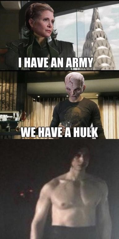 Fictional character - I HAVE AN ARMY WE HAVE A HULK