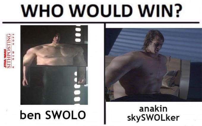 Shoulder - WHO WOULD WIN? anakin ben SWOLO skySWOLker STAR WARS SITHPOSTING