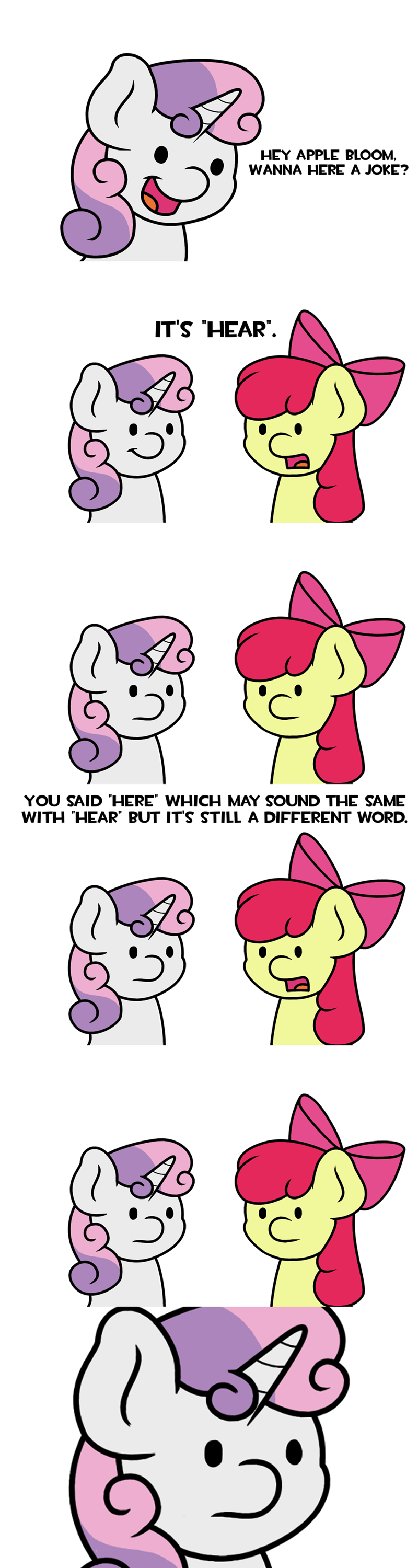 fourth wall Sweetie Belle apple bloom jandamz comic - 9111363584