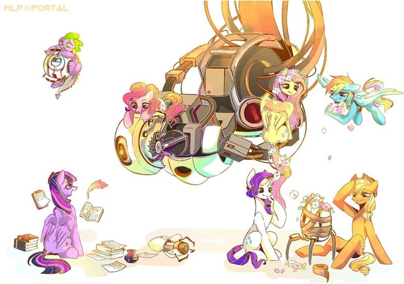 spike applejack twilight sparkle pinkie pie rarity Portal sea maggie fluttershy rainbow dash - 9111365888