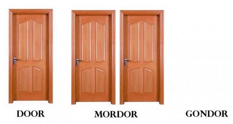 meme - Door - DOOR GONDOR MORDOR