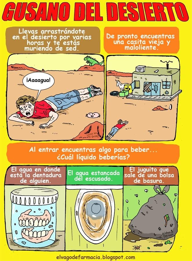 gusano del desierto una caricatura de elvagodefarmacia