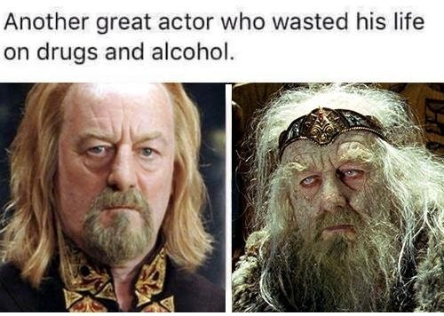meme - Text - Another great actor who wasted his life on drugs and alcohol.