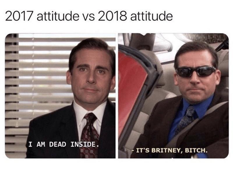 Eyewear - 2017 attitude vs 2018 attitude I AM DEAD INSIDE. IT'S BRITNEY, BITCH