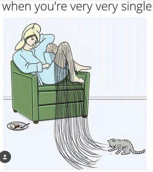 Cartoon - when you're very very single