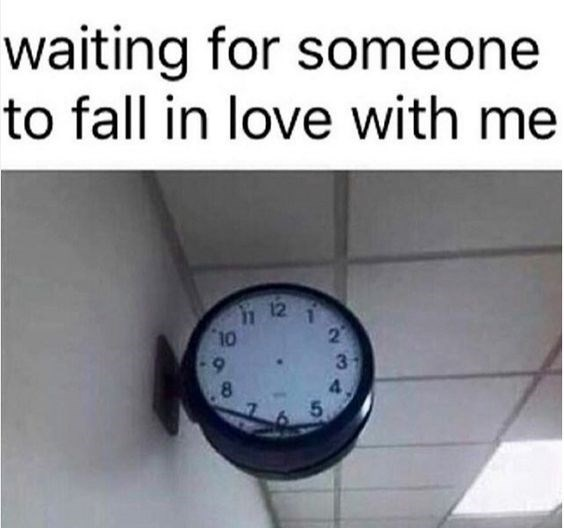 Text - waiting for someone to fall in love with me 12 22 10 3 5