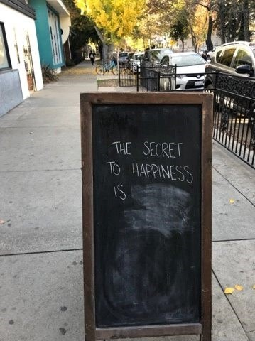 Font - THE SECRET TO HAPPINESS IS
