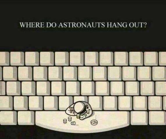 Space bar - WHERE DO ASTRONAUTS HANG OUT? 40